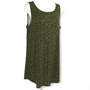 Logo Layers Lori Goldstein Tank Top Tunic Green L